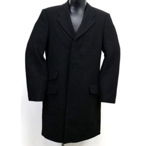Banana Republic Men's Top Coat Size XL Black